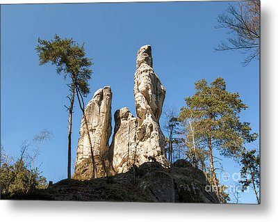 Metal Print featuring the photograph Rock Formations In The Bohemian Paradise Geopark by Michal Boubin