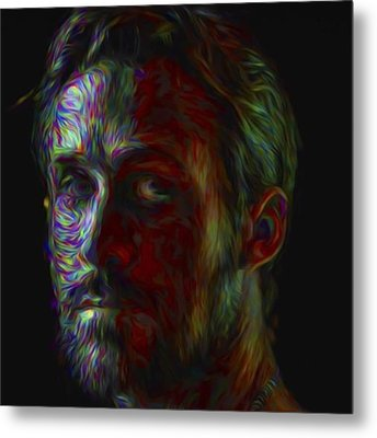 #ryangosling #gosling #male #actress Metal Print by David Haskett