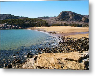 Sand Beach Acadia National Park Metal Print