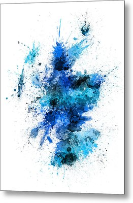 Scotland Paint Splashes Map Metal Print by Michael Tompsett