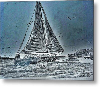 Seascape Sailing Metal Print by Scott D Van Osdol