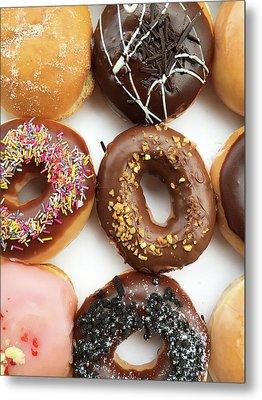 Selection Of Doughnut Metal Print by Tom Gowanlock