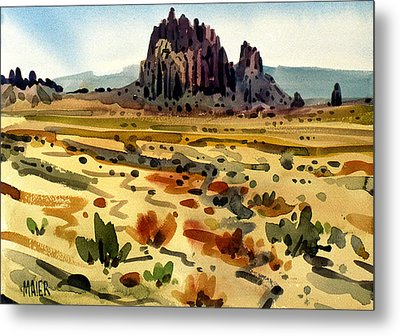 Shiprock Metal Print by Donald Maier