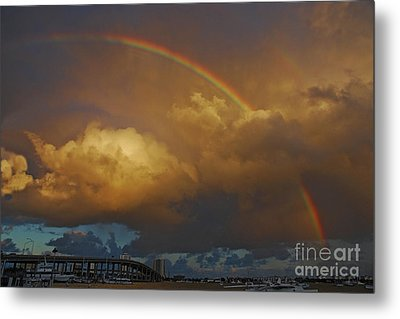 Metal Print featuring the photograph 2- Singer Island Stormbow by Rainbows