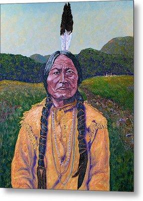 Sitting Bull Metal Print by Stan Hamilton