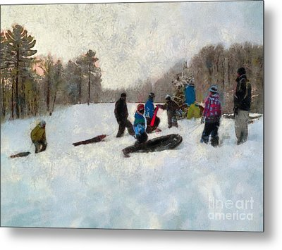 Snow Day Metal Print by Claire Bull