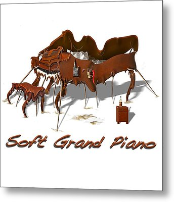 Soft Grand Piano  Metal Print by Mike McGlothlen