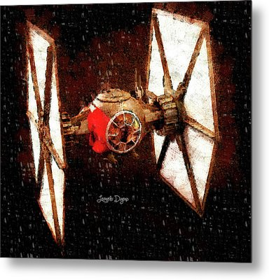 Star Wars First Order Tie Fighter - Wax Style Metal Print