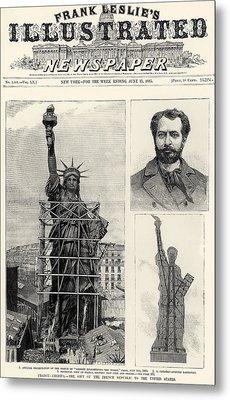 Statue Of Liberty, 1885 Metal Print by Granger