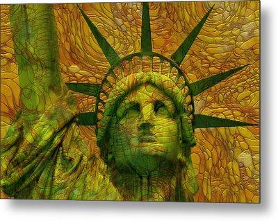 Statue Of Liberty Metal Print by Jack Zulli