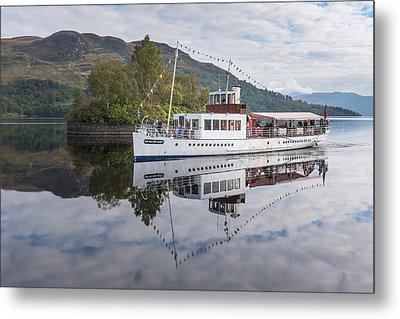 Steamship Sir Walter Scott On Loch Katrine Metal Print