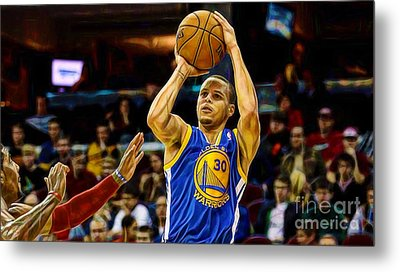 Steph Curry Collection Metal Print by Marvin Blaine