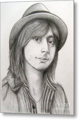 Steve Perry Metal Print by Patrice Torrillo