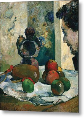Still Life With Profile Of Laval Metal Print