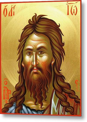 St.john The Baptist Metal Print by Daniel Neculae