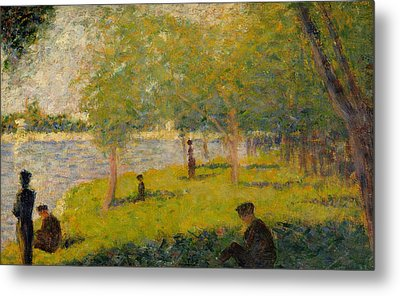 Study For Sunday Afternoon On The Island Of La Grand Jatte Metal Print