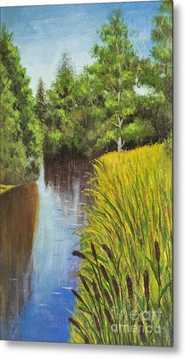 Summer Landscape, Painting Metal Print