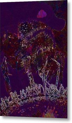 Metal Print featuring the digital art Sun Flower Hummel Insect Summer  by PixBreak Art