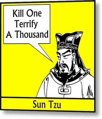 Sun Tzu Metal Print by War Is Hell Store