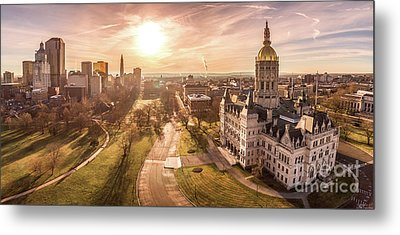 Sunrise In Hartford Connecticut Metal Print by Petr Hejl