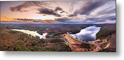 Metal Print featuring the photograph Sunset At Saville Dam - Barkhamsted Reservoir Connecticut by Petr Hejl