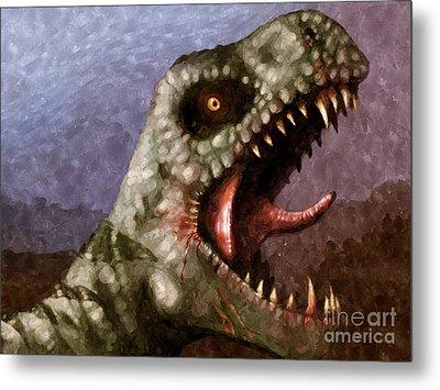 T-rex  Metal Print by Pixel  Chimp