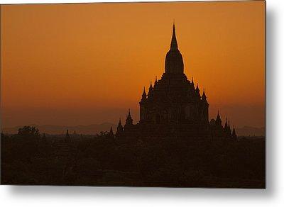 Temples Of Bagan Metal Print by Arabesque Saraswathi