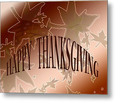 Thanksgiving Card Metal Print