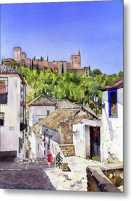 The Alhambra From The Albaicin Metal Print