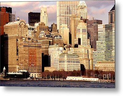 The Battery- New York City Metal Print by Linda  Parker