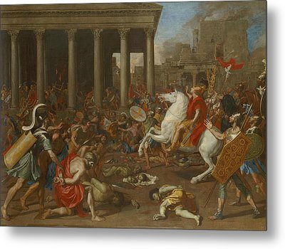 The Conquest Of Jerusalem By Emperor Titus Metal Print by Nicolas Poussin