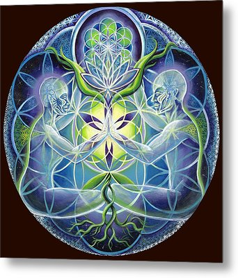 The Flowering Of Divine Unification Metal Print by Morgan  Mandala Manley