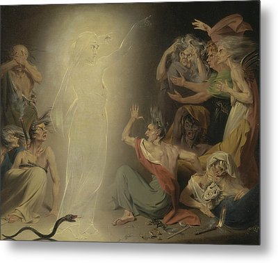 The Ghost Of Clytemnestra Awakening The Furies Metal Print by John Downman