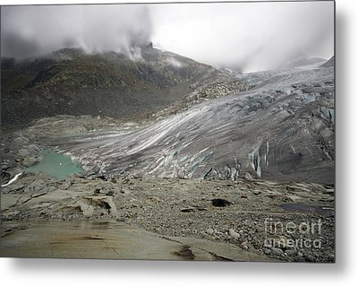 The Glacier Metal Print by Angel  Tarantella