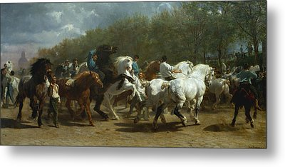 The Horse Fair Metal Print by MotionAge Designs