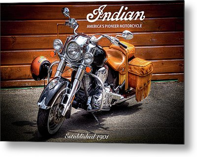 The Indian Motorcycle Metal Print