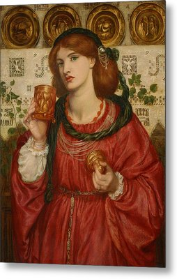 The Loving Cup Metal Print by Dante Gabriel Rossetti
