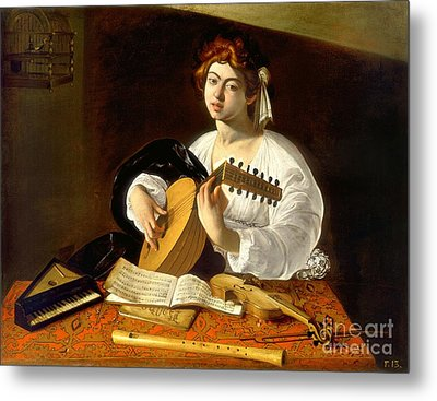 The Lute-player Metal Print by Celestial Images