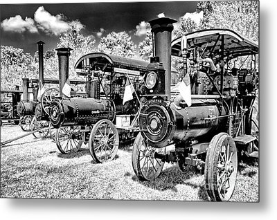 Metal Print featuring the photograph The Old Way Of Farming by Paul W Faust - Impressions of Light