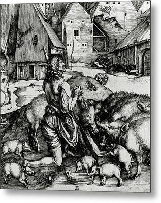 The Prodigal Son Metal Print by Albrecht Durer or Duerer
