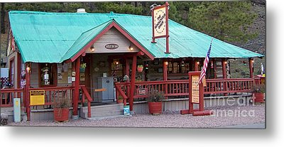 Metal Print featuring the photograph The Rendezvous Diner by Juls Adams