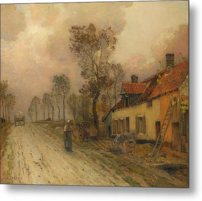 Metal Print featuring the painting The Route Nationale At Samer by Jean-Charles Cazin
