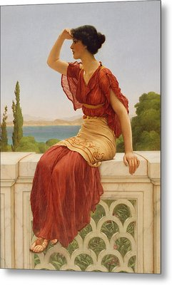 The Signal Metal Print by John William Godward