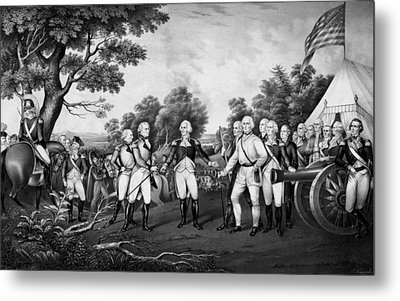 The Surrender Of General Burgoyne Metal Print by War Is Hell Store