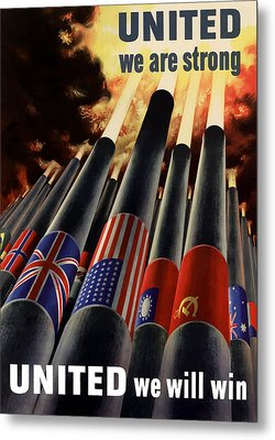The United Nations Fight For Freedom Metal Print by War Is Hell Store