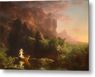 The Voyage Of Life - Childhood Metal Print by Mountain Dreams