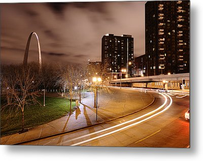 Theatrical Lights Give The Surface Metal Print by Jim Richardson