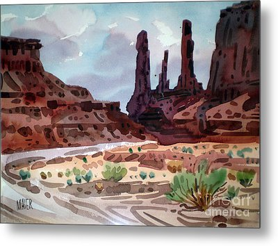 Three Sisters Metal Print by Donald Maier