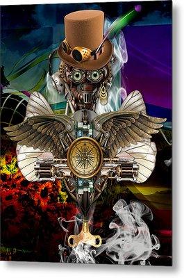 Time Traveler Art Metal Print