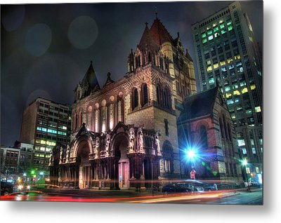 Metal Print featuring the photograph Trinity Church - Copley Square Boston by Joann Vitali